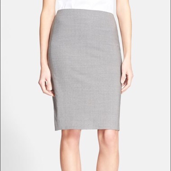 d588af80f3 Theory Skirts | Stretch Wool Pencil Skirt In Light Gray | Poshmark